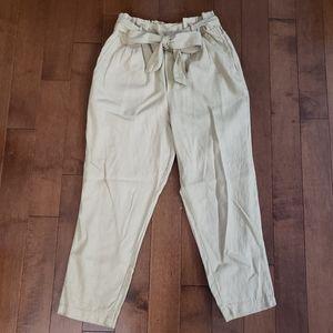 Linen Khaki Colour Pants